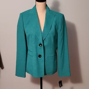 Le Suit The Hamptons Summer Teal Blazer